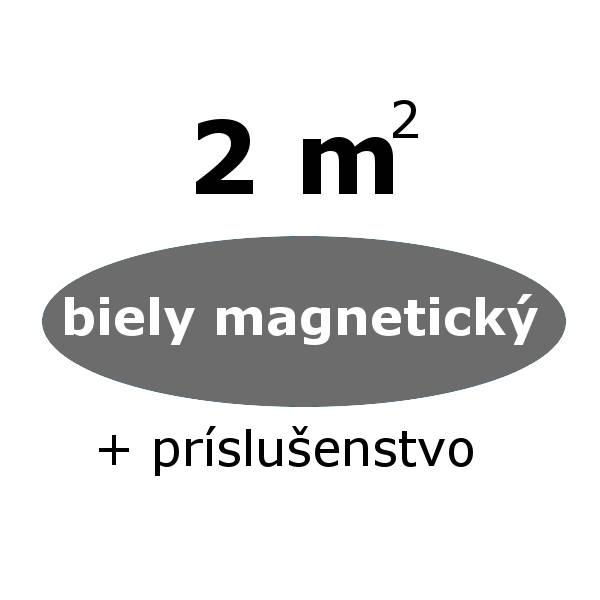 Chytrá stena - biely magneticky set 2 m- zvýhodnený
