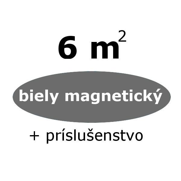 Chytrá stena - biely magneticky set 6 m- zvýhodnený