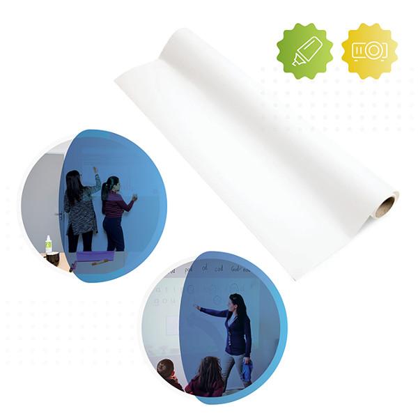 Chytrá stena - Samolepiacia popisovateľná biela fólia projekčná
